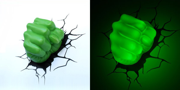 3D Wall Art Nightlight - Hulk Hand