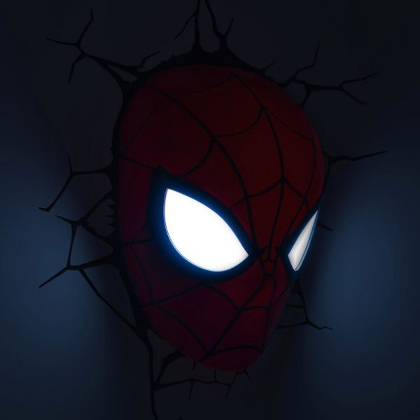3D Wall Art Nightlight - Spiderman Face