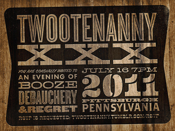Twootenanny Invitation