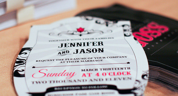 Jason & Jennifer wedding invitation