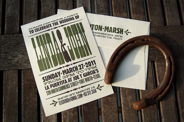 HintonMarsh Wedding Invitation