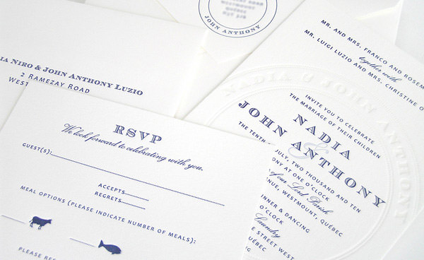 Wedding Invite Letterpress