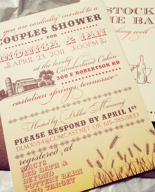 Hatch Shower Bridal Shower Invitation