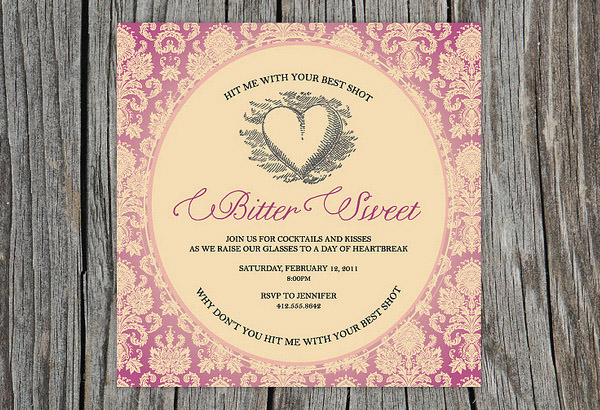 Bittersweet - Valentine's Day Party Invitation