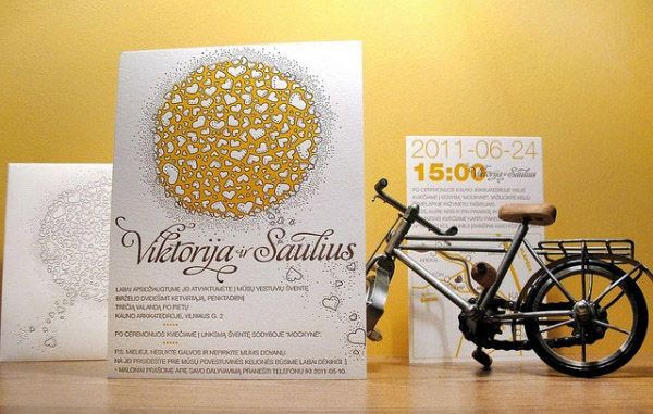 Love Compose Letterpress Wedding Invitation