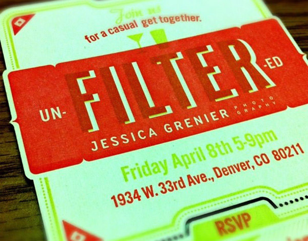 Letterpress & laser cut invitation