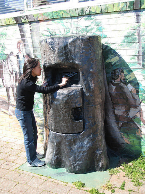 Old oak mailbox