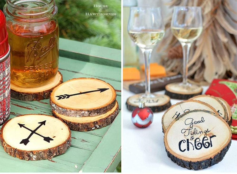 Wood Slices Coaster