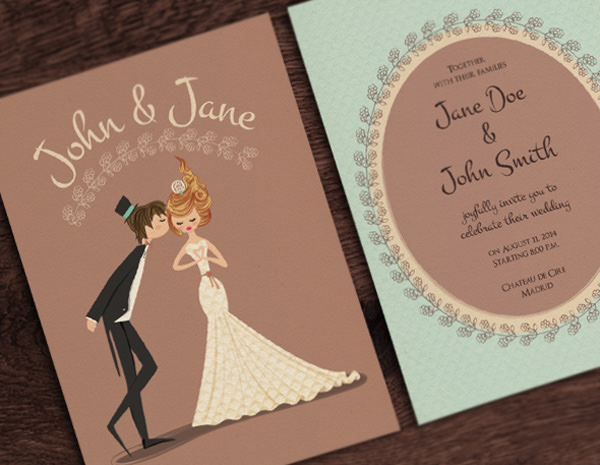 20 smashing examples of customized printed wedding invitations letterpress invitations by cheryln read stopboris Image collections