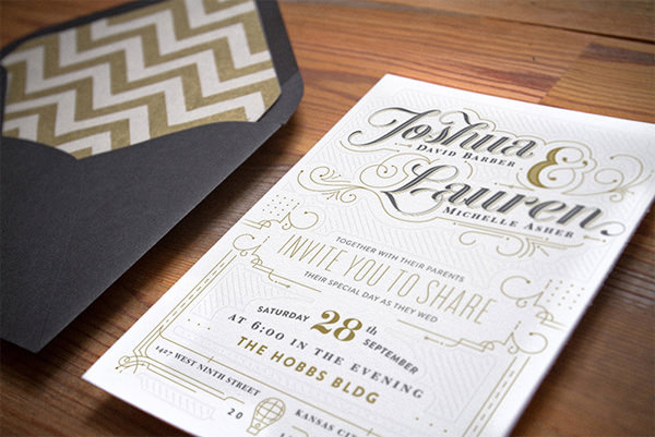 20 Smashing Examples Of Customized Printed Wedding Invitations