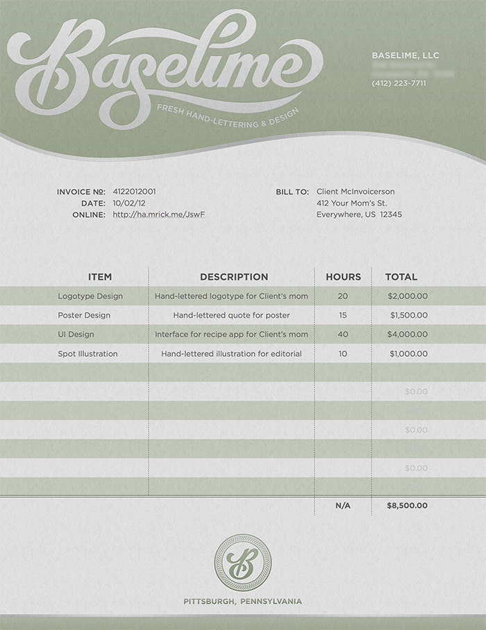 Baselime  Beautiful Invoices