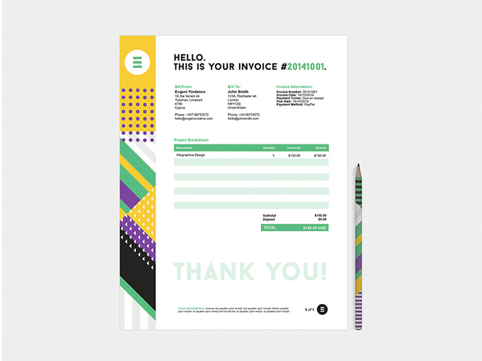 50 creative invoice designs for your inspiration hongkiat identity design thecheapjerseys Image collections