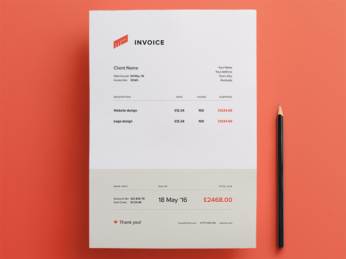 Amazing Design Invoice Idea Free Invoice Design