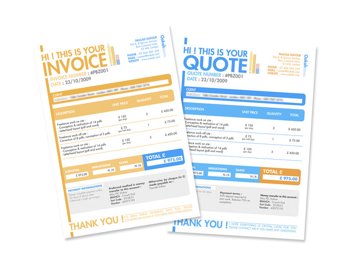 Invoice Quote  Design Invoices