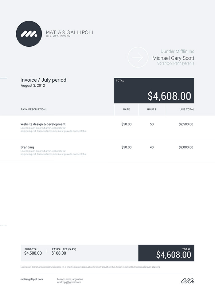 Invoice Take  Design Invoices