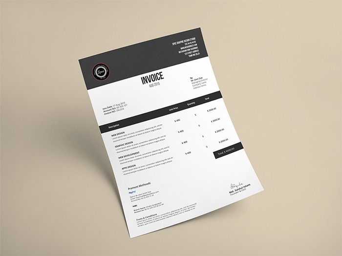 Creative Invoice Designs For Your Inspiration Hongkiat - Invoice design template