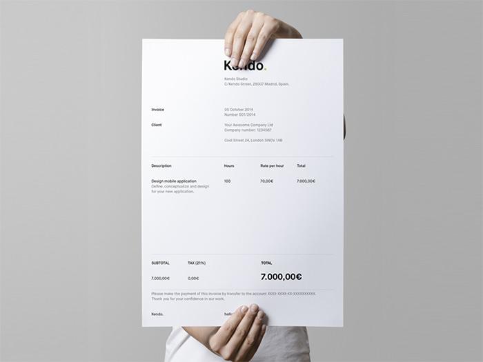 Kendo S Invoice  Graphic Designer Invoice