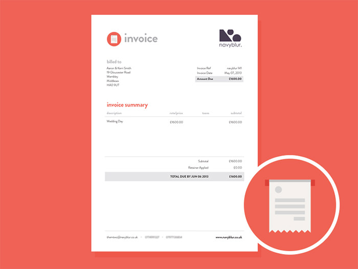 Orange Invoice  Designing An Invoice