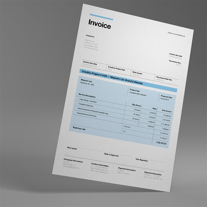50 Creative Invoice Designs for Your Inspiration Hongkiat