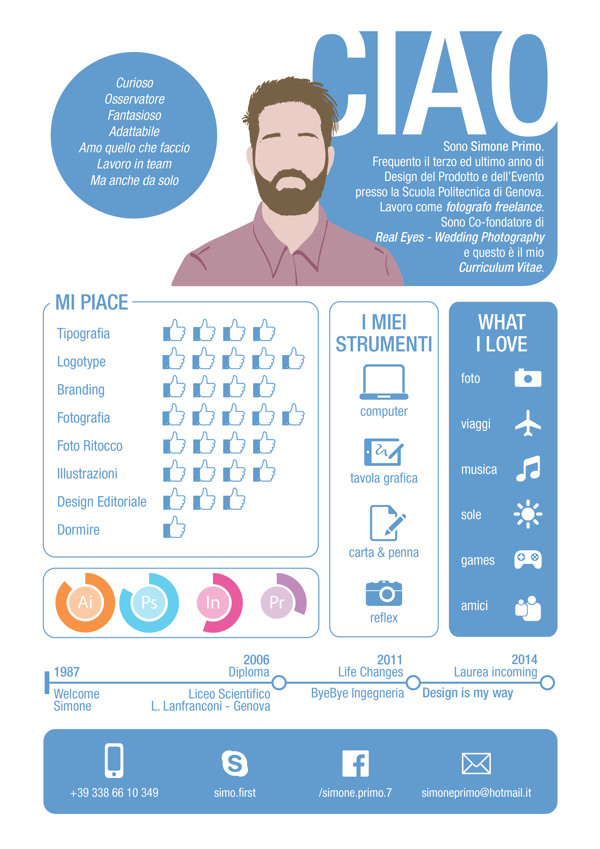 infographic resume by lim zhiyang - Creative Resume