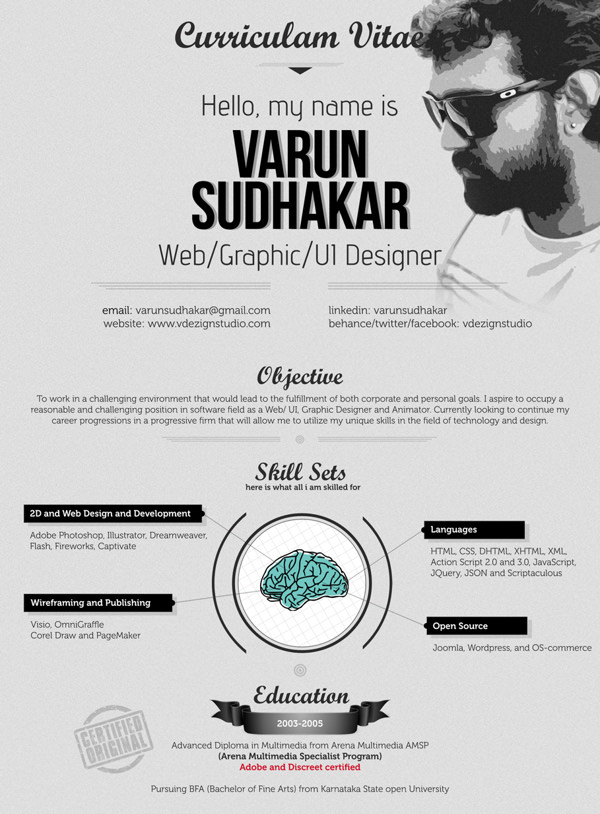 30 outstanding resume designs you wish you thought of hongkiat - Creative Resume