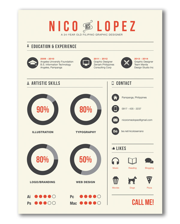 30 outstanding resume designs you wish you thought of hongkiat