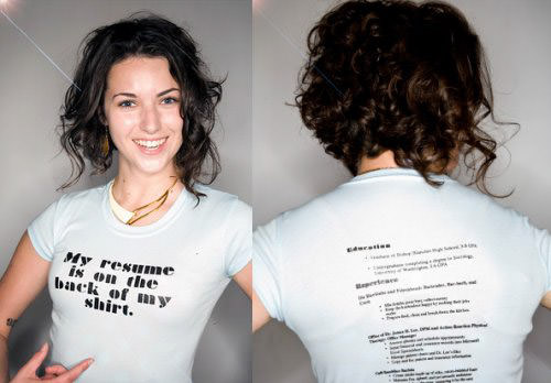 resume_shirt - Original Resumes