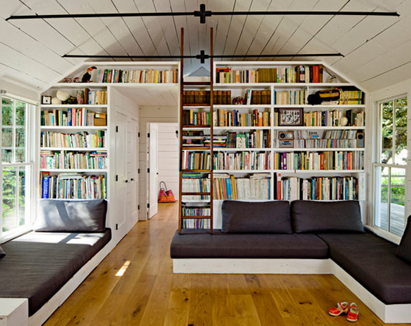 Located In Steamboat Springs, Colorado, This Looks Like Your Average House  But With A Simple Nudge Of The Beautiful Timber Bookcase, It Reveals  Another Room ... Design