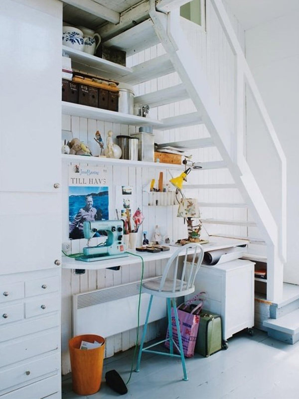 20 Creative Ideas To Use The Space Under Your Stairs - Hongkiat