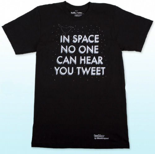 In space, no one can hear you tweet