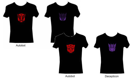 transformer Light Up Flashing T-Shirt