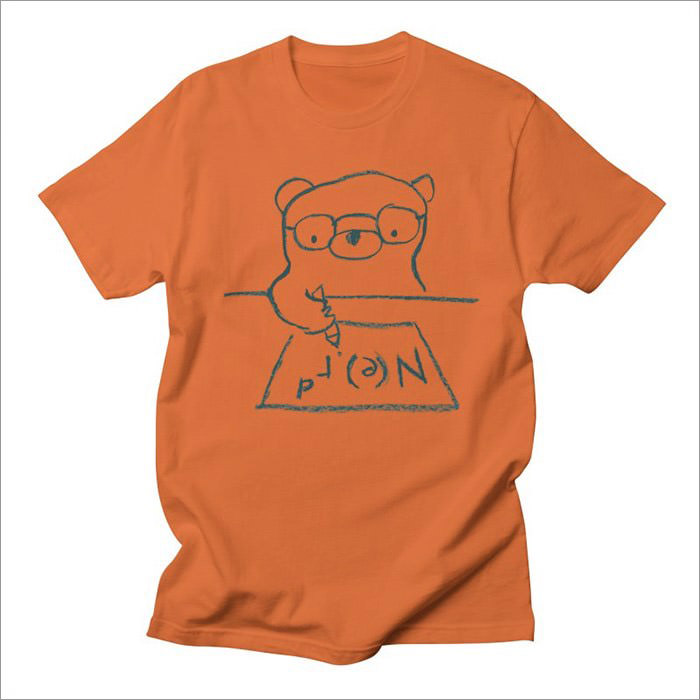 nerd-orange-geek-t-shirt