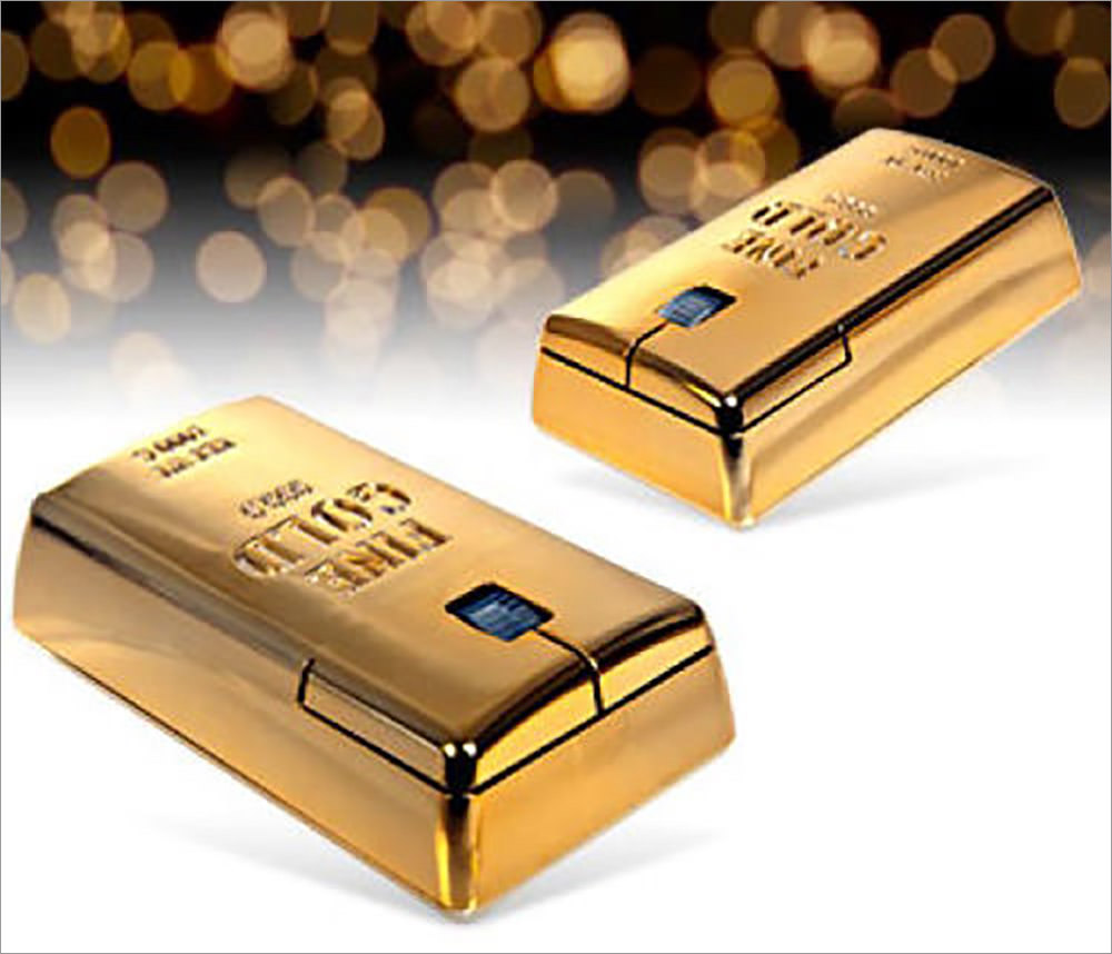 Gold Bullion Wireless Mouse