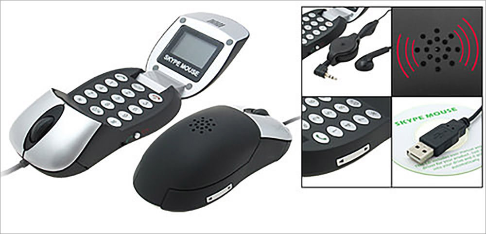 Optical Mouse Skype Hands-free PC Speakerphone
