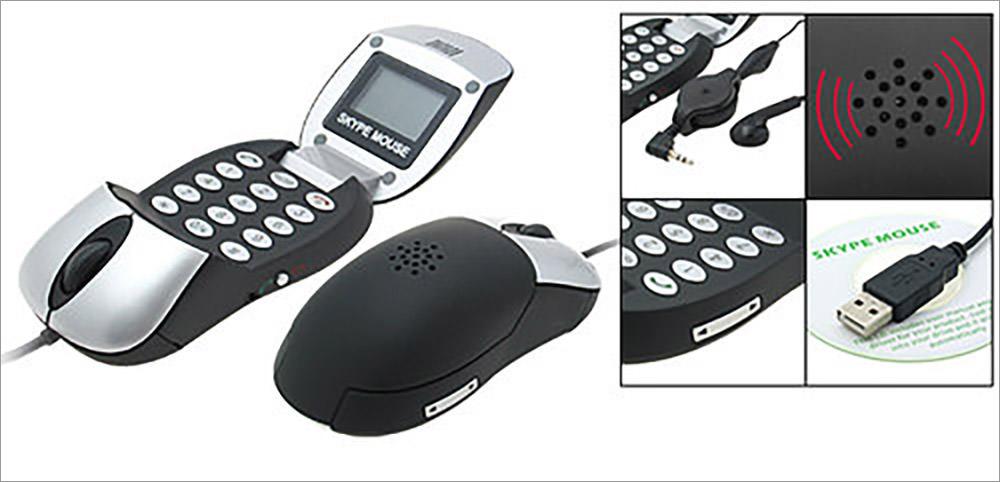 Optical Mouse Skype Hands-free PC Speakerphone