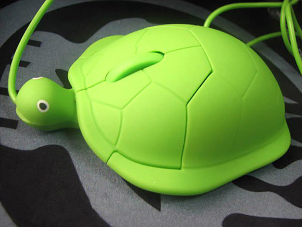 Tortoise-shaped optical usb mouse
