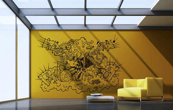 20 Creative & Contemporary Vinyl Wall Sticker Designs