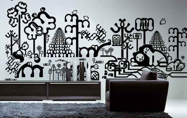 20 Creative & Contemporary Vinyl Wall Sticker Designs - Hongkiat