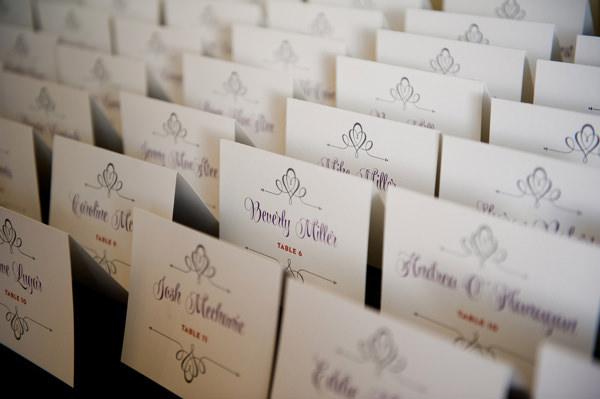 lisa and chuck lake minnetonka wedding - Wedding Escort Cards