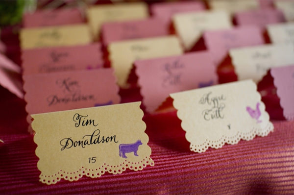 25 creative wedding escort card designs hongkiat ally and joe nicollet island pavillion wedding junglespirit Gallery