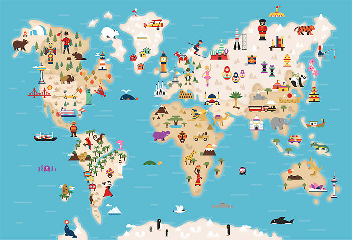 Creative Remakes Of The World Map Hongkiat - Globe map of the world