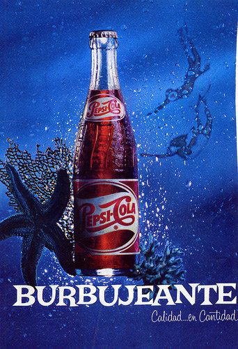 Pepsi-Cola burbujeante ad