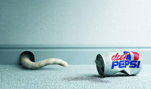 Diet Pepsi - Cat ad