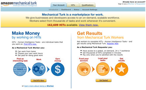 amazon mechanical turk at 500px
