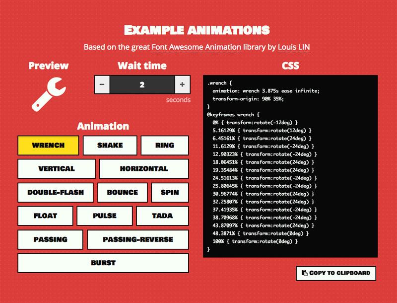 Wait animate css generator