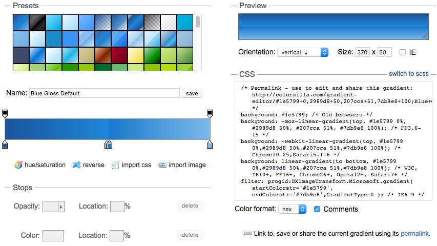 colorzilla gradient generator
