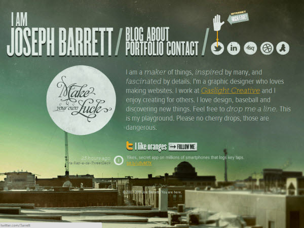 i am joseph barrett