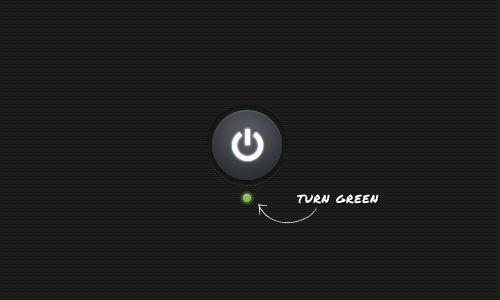 button turn green