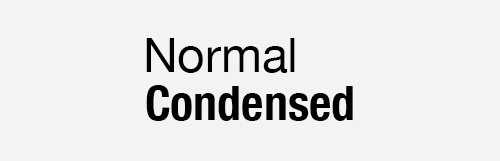 normal condensed
