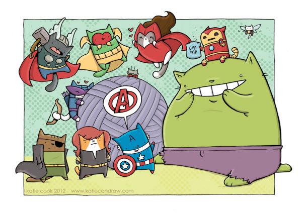 cat avengers assemble